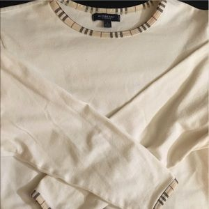 Burberry Tops - Burberry White Long Sleeve T-shirt